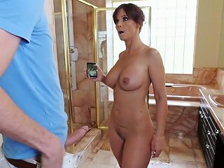 Curvy And Seductive MILF Spied With Camera In The Shower Room Nude