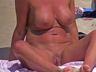 Pierced Pussy Nudist Horny Milf Beach Voyeur Hd Video